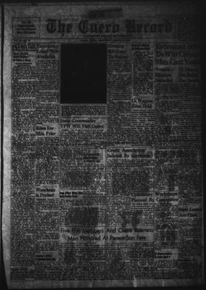 Primary view of object titled 'The Cuero Record (Cuero, Tex.), Vol. 67, No. 75, Ed. 1 Wednesday, March 29, 1961'.