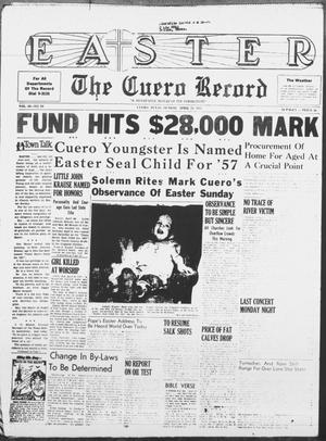 Primary view of object titled 'The Cuero Record (Cuero, Tex.), Vol. 69, No. 94, Ed. 1 Sunday, April 21, 1957'.