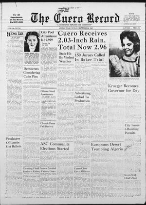 Primary view of object titled 'The Cuero Record (Cuero, Tex.), Vol. 68, No. 251, Ed. 1 Sunday, September 9, 1962'.