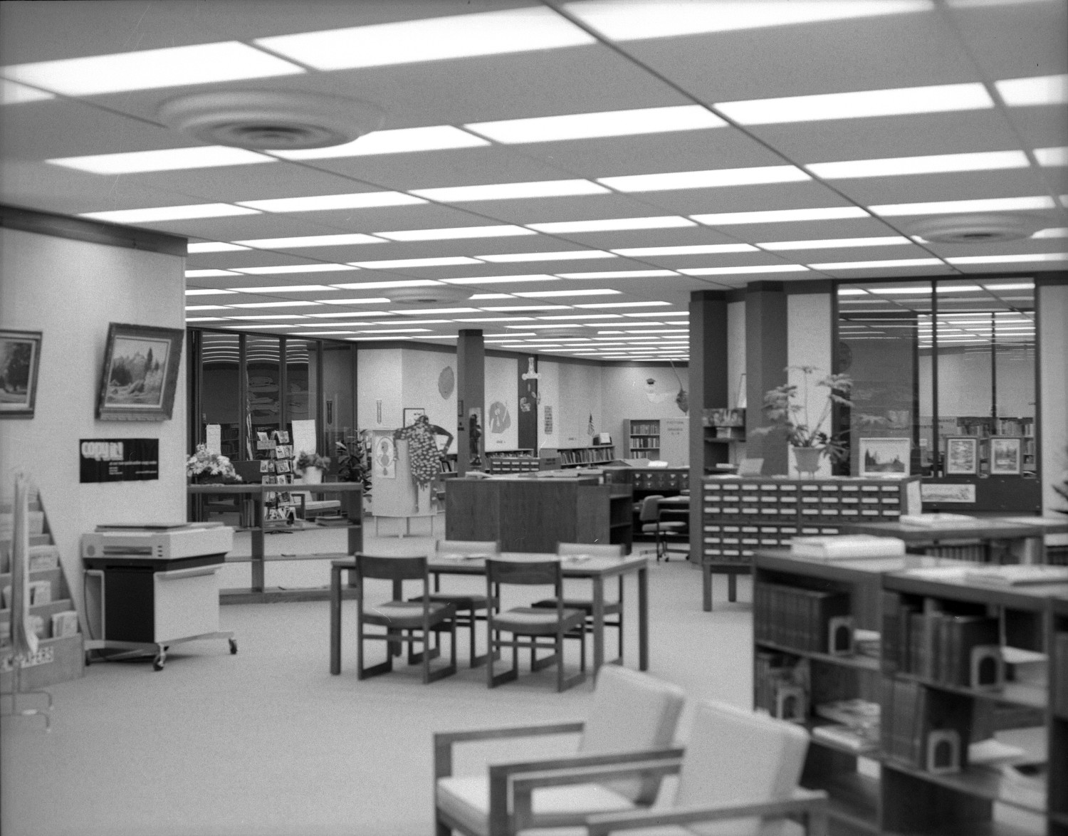 interior of the deaf smith county library the portal