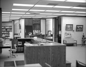 Primary view of object titled '[Interior of the Deaf Smith County Library]'.