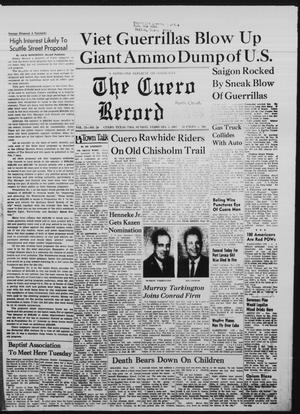 Primary view of object titled 'The Cuero Record (Cuero, Tex.), Vol. 73, No. 30, Ed. 1 Sunday, February 5, 1967'.