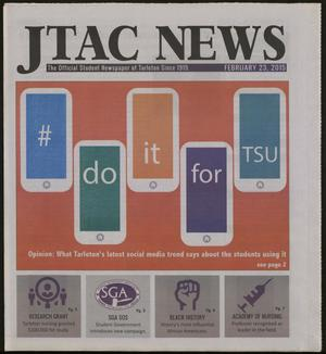 Primary view of object titled 'JTAC News (Stephenville, Tex.), Ed. 1 Monday, February 23, 2015'.