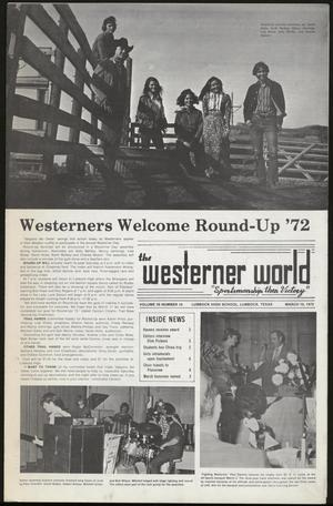 Primary view of object titled 'The Westerner World (Lubbock, Tex.), Vol. 38, No. 14, Ed. 1 Friday, March 10, 1972'.
