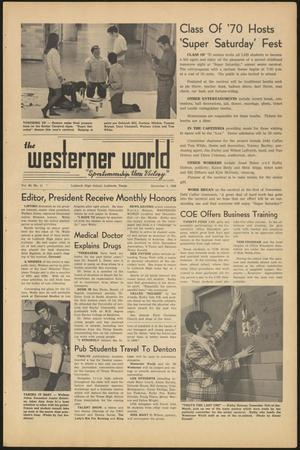 Primary view of object titled 'The Westerner World (Lubbock, Tex.), Vol. 36, No. 11, Ed. 1 Friday, December 5, 1969'.