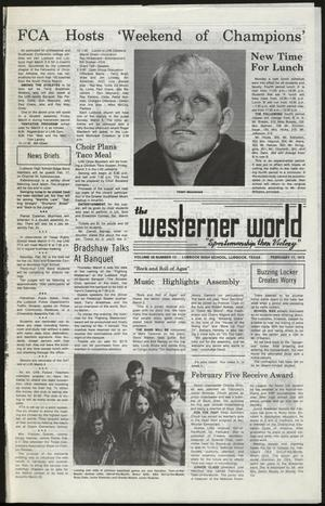 Primary view of object titled 'The Westerner World (Lubbock, Tex.), Vol. 38, No. 13, Ed. 1 Thursday, February 17, 1972'.