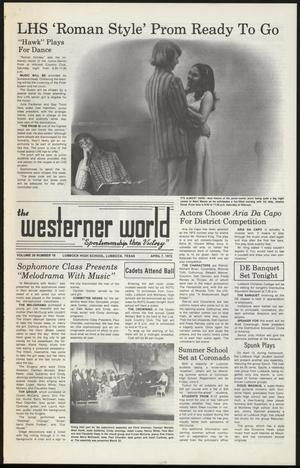 Primary view of object titled 'The Westerner World (Lubbock, Tex.), Vol. 38, No. 16, Ed. 1 Friday, April 7, 1972'.