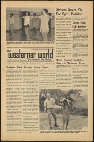 Primary view of object titled 'The Westerner World (Lubbock, Tex.), Vol. 36, No. 3, Ed. 1 Friday, September 19, 1969'.