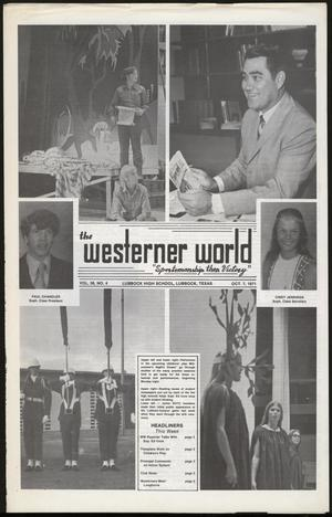 Primary view of object titled 'The Westerner World (Lubbock, Tex.), Vol. 38, No. 4, Ed. 1 Thursday, October 7, 1971'.