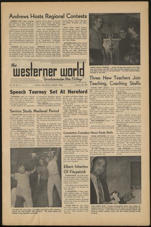 Primary view of object titled 'The Westerner World (Lubbock, Tex.), Vol. 36, No. 14, Ed. 1 Friday, January 30, 1970'.