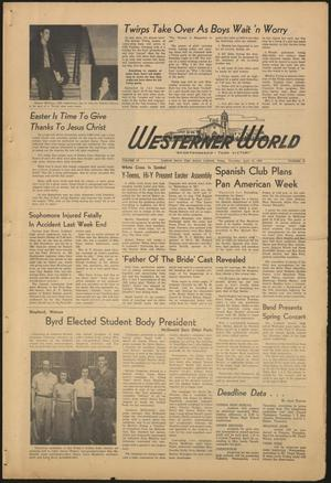 Primary view of object titled 'The Westerner World (Lubbock, Tex.), Vol. 18, No. 27, Ed. 1 Thursday, April 10, 1952'.