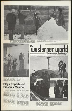 Primary view of object titled 'The Westerner World (Lubbock, Tex.), Vol. 38, No. 9, Ed. 1 Friday, December 10, 1971'.