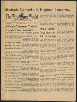 Primary view of object titled 'The Westerner World (Lubbock, Tex.), Vol. 18, No. 28, Ed. 1 Friday, April 18, 1952'.