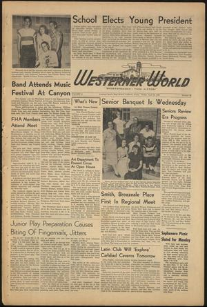 Primary view of object titled 'The Westerner World (Lubbock, Tex.), Vol. 16, No. 28, Ed. 1 Friday, April 28, 1950'.