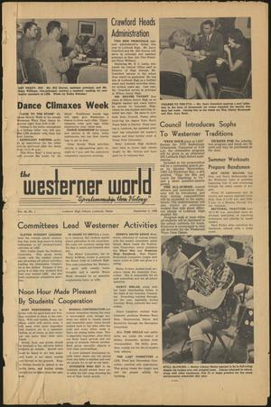 Primary view of object titled 'The Westerner World (Lubbock, Tex.), Vol. 36, No. 1, Ed. 1 Friday, September 5, 1969'.