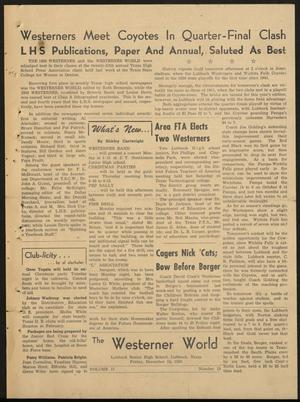 The Westerner World (Lubbock, Tex.), Vol. 17, No. 13, Ed. 1 Friday, December 15, 1950