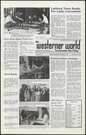 Primary view of object titled 'The Westerner World (Lubbock, Tex.), Vol. 39, No. 12, Ed. 1 Friday, February 23, 1973'.