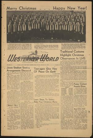The Westerner World (Lubbock, Tex.), Vol. 17, No. 14, Ed. 1 Thursday, December 21, 1950