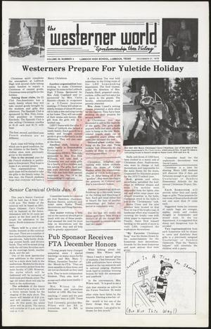 Primary view of object titled 'The Westerner World (Lubbock, Tex.), Vol. 39, No. 9, Ed. 1 Thursday, December 21, 1972'.