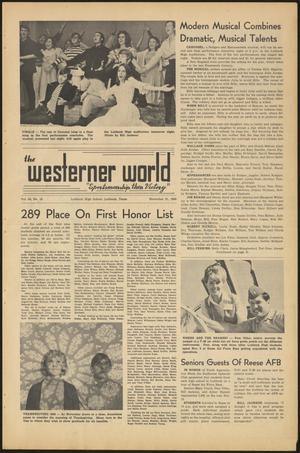 Primary view of object titled 'The Westerner World (Lubbock, Tex.), Vol. 36, No. 10, Ed. 1 Friday, November 21, 1969'.