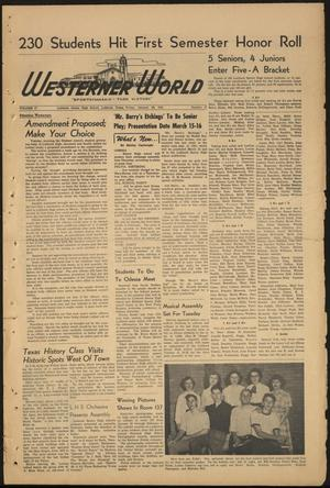 Primary view of object titled 'The Westerner World (Lubbock, Tex.), Vol. 17, No. 17, Ed. 1 Friday, January 26, 1951'.