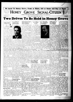 Primary view of object titled 'Honey Grove Signal-Citizen (Honey Grove, Tex.), Vol. 51, No. 25, Ed. 1 Friday, July 18, 1941'.