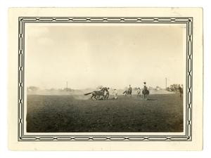 Primary view of object titled '[Photograph of a Rodeo in Schertz, Texas]'.