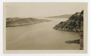 Primary view of object titled '[Photograph of the Gila River from Coolidge Dam, Arizona]'.