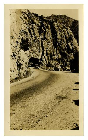 Primary view of object titled '[Photograph of a Road in Devil's Canyon]'.