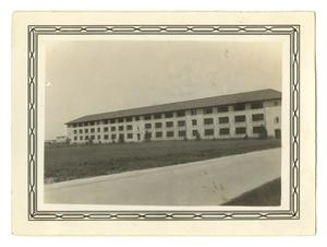 Primary view of object titled '[Photograph of Barracks at Randolph Field]'.