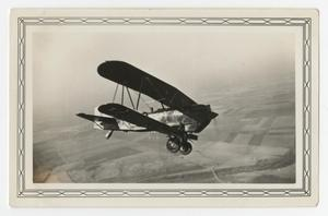 Primary view of object titled '[Photograph of an A-3 Airplane in Flight]'.