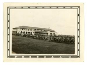 Primary view of object titled '[Photograph of a Cadet Battalion Marching]'.