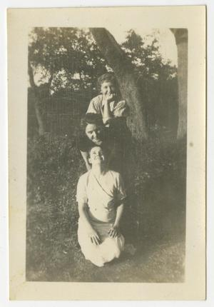 Primary view of object titled '[Photograph of Three Women by a Tree]'.