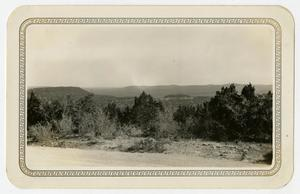 Primary view of object titled '[Photograph of the Scenery Near Austin, Texas]'.
