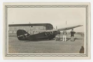 Primary view of object titled '[Photograph of the Plane Aeronica at Waco, Texas]'.