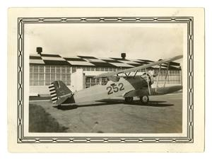 Primary view of object titled '[Photograph of a BT-2B at Randolph Field]'.