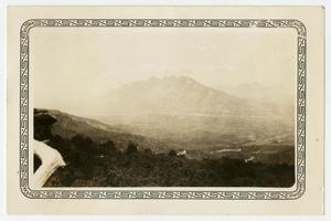 Primary view of object titled '[Photograph of the Mountains Around Monterrey, Mexico]'.