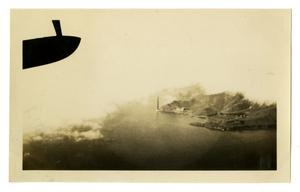 Primary view of object titled '[Photograph of a Fog-Covered Golden Gate Bridge]'.
