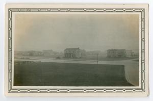 Primary view of object titled '[Photograph of Rain at Randolph Field, Texas]'.