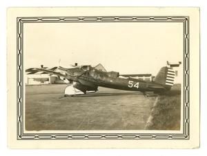 Primary view of object titled '[Photograph of an A-8 Airplane at Randolph Field]'.