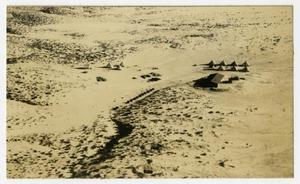 Primary view of object titled '[Photograph of a Camp at Rogers Dry Lake]'.