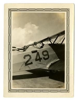 Primary view of object titled '[Photograph of George E. Pierce Sitting in a Plane]'.