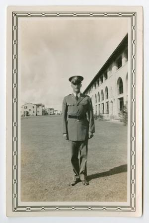 Primary view of object titled '[Photograph of a Cadet in Full Dress Uniform]'.