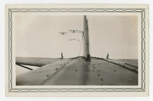 Primary view of object titled '[Photograph of Planes Flying in Formation]'.
