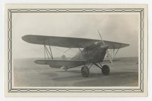 Primary view of object titled '[Photograph of a P-1 Airplane at Kelly Field]'.