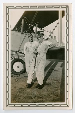 Primary view of object titled '[Photograph of Pilots George and Arthur Pierce]'.