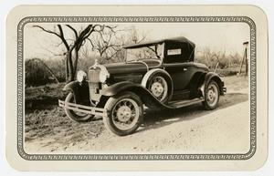 Primary view of object titled '[Photograph of George E. Pierce's First Car]'.