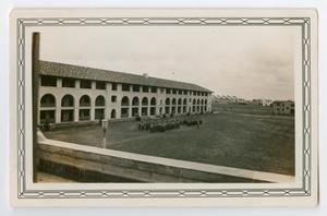 Primary view of object titled '[Photograph of B Company Standing for Inspection]'.