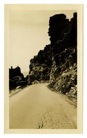 Primary view of object titled '[Photograph of a Road in Devil's Canyon, Arizona]'.