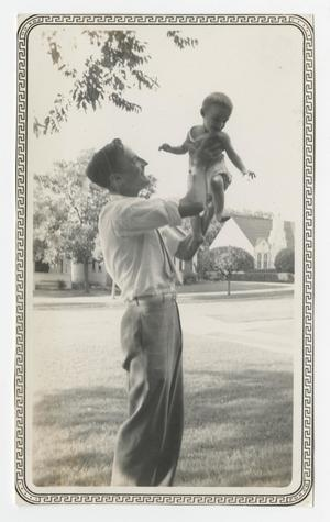 Primary view of object titled '[Photograph of George E. Pierce with his Son George E. Pierce, Jr.]'.